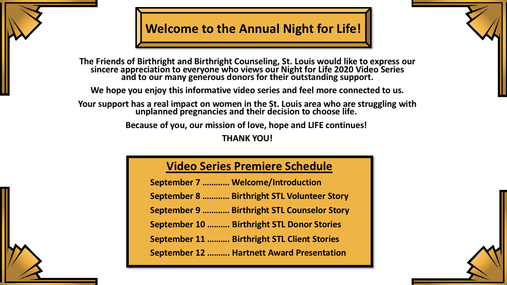Night for Life Virtual Program