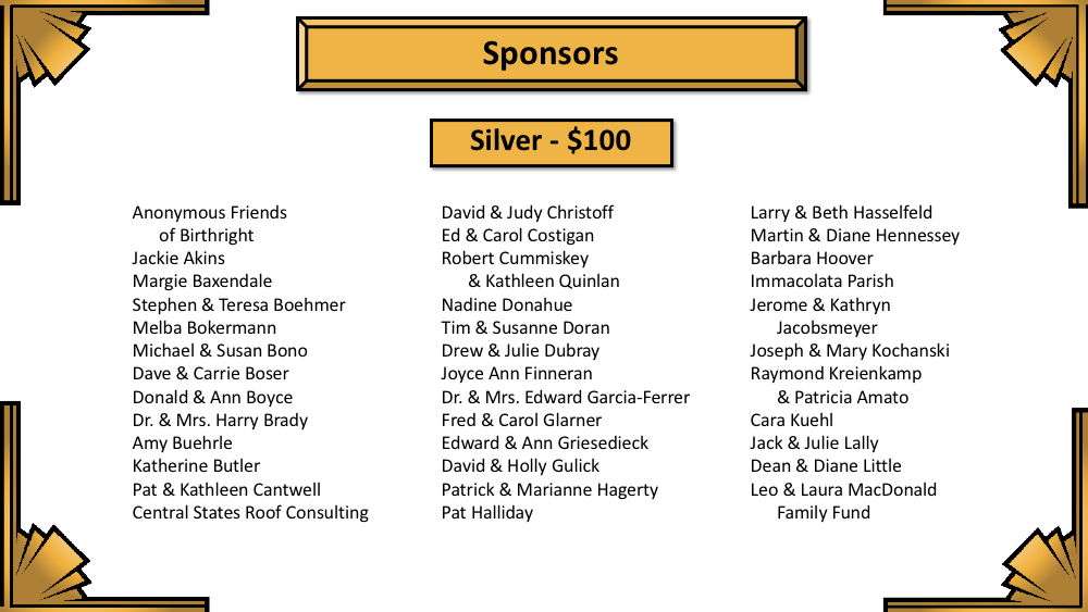 Night for Life Sponsors